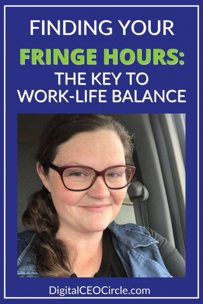 Photo of Melissa Langford with the title Finding Your Fringe Hours: The Key to Work Life Balance