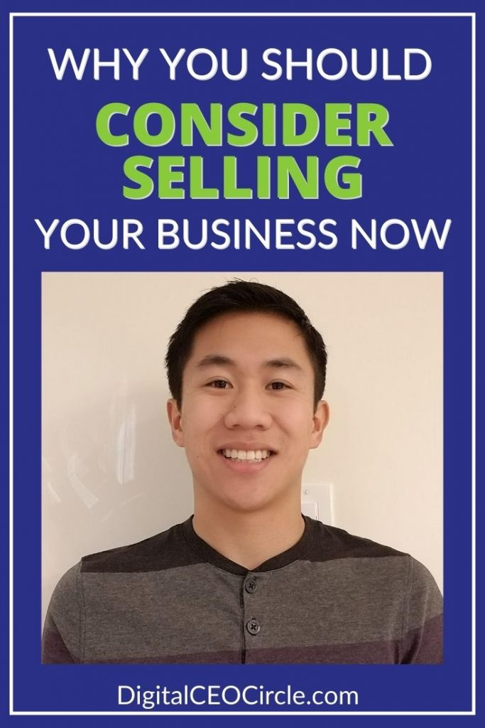 Colin Ma discusses why you should consider selling your business now