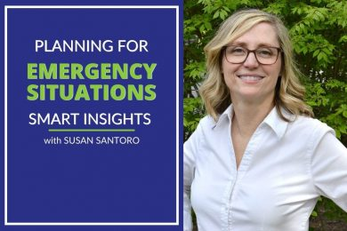 Photo of susan santoro discussing how to make an emergency plan for your business.